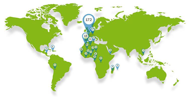 Nombre d'apprenants du MS EPA par pays au cours des 10 dernières années